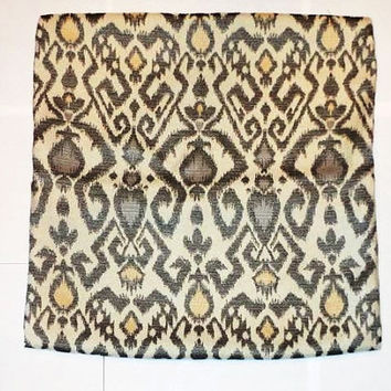 Ikat Pillow Covers-18X18-Tan, Black/Grey, Yellow, Light Purple. Throw Pillow.