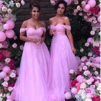 Pink Chiffon Prom Dress,Floor Length Prom Dresses,Evening Dresses