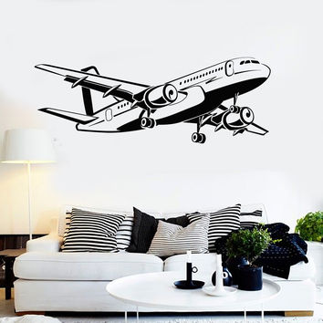 Vinyl Wall Decal Aircraft Airplane Aviation Art Decorating Stickers Mural Unique Gift (ig5015)