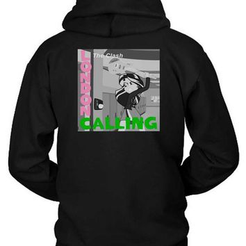 CREYH9S The Clash London Calling Cameleon Man Hoodie Two Sided