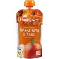 Happy Baby Clearly Crafted Stage 2 Organic Baby Food, apples, pumpkin & carrots - 4oz