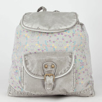 Floral Canvas Backpack Grey One Size For Women 21771811501