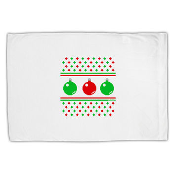 Ugly Christmas Sweater Ornaments Standard Size Polyester Pillow Case
