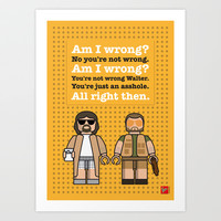 My The Big Lebowski lego dialogue poster Art Print by Chungkong
