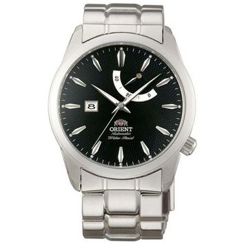 Orient FD0E001B Men's Millenium Automatic Black Dial Stainless Steel Power Reserve Watch