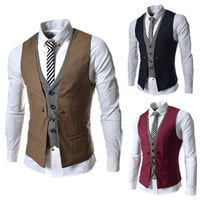 Men Casual Vest Jacket [6528873923]