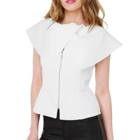 Gracia I'm On A Boat Part 2 White Neoprene Top Size Large