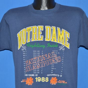 80s Notre Dame 1988 National Champions t-shirt Large