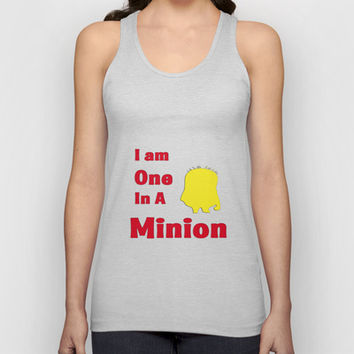 Despicable Me -I Am One In a Minion Unisex Tank Top by Iva Ivanova ART