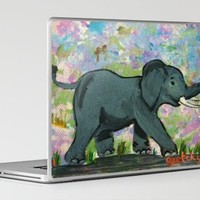 Baby Elephant Laptop & iPad Skin by Paintings by gretzky | Society6