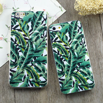 Green Fashion Plants Trees Phone Case Cover For iPhone 5 5s 6 6s 6 Plus 6s Plus