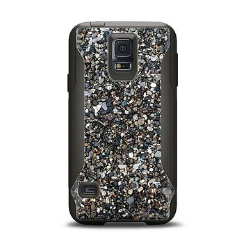 The Small Dark Pebbles Samsung Galaxy S5 Otterbox Commuter Case Skin Set