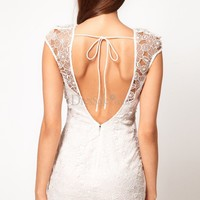 Graceful Illusion Sweetheart Neckline Mini-length Graduation Dress Features Floral Lace, Graduation Dresses - dressale.com