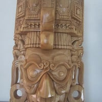 Giant Made to Order Chaac Mool Copan Architecture Jaguar God Of the Underworld Mayan Mask