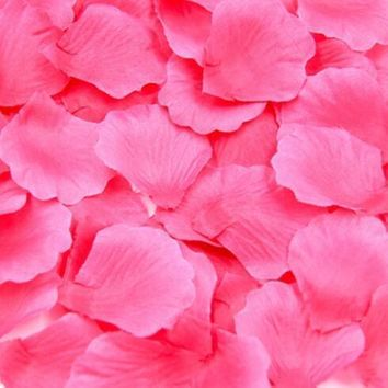 Artificial Rose Flower Petals Party Table Wedding Decoration