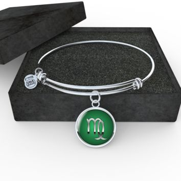 Zodiac Sign Virgo v2 - Bangle Bracelet