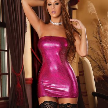 Glitz Zipper Tube Dress and G String