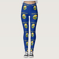 Leggings with flag of Montana State, USA