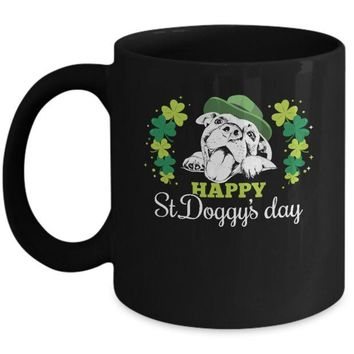 DCKIJ3 Happy St Doggy's Day Saint Patrick's Day Dog Mug