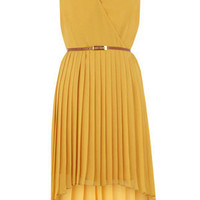 Oasis All Dresses | Ochre Pleat Midi Dress | Womens Fashion Clothing | Oasis Stores UK