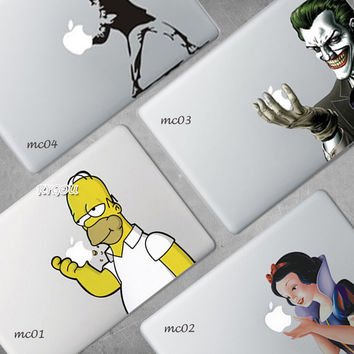 Homer Simpson Joker Cartoon designed vinyl sticker for Macbook air 13 skin cover for macbook Pro 13 15 Retina Laptop stickers