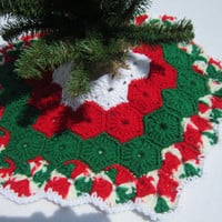 Crochet Mini Christmas Tree Skirt