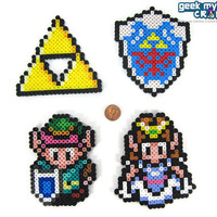 Legend of Zelda Link to the Past Perler Bead Sprite Decorations