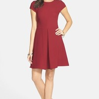 Junior Women's Everly Cap Sleeve Skater Dress,