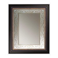 Antique Gold Beaded Scroll Wall Mirror (8881) - Illuminada