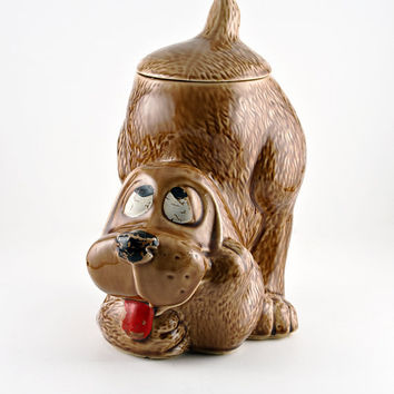 McCoy Thinking Brown Dog Cookie Jar, 0272