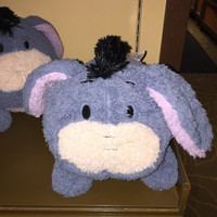 """disney parks authentic 9"""" eeyore soft round plush pillow new with tags"""