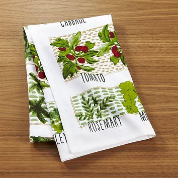Garden Plot Dish Towel
