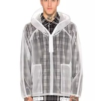 Indie Designs Off-white Inspired Transparent Short Raincoat
