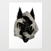 Wild Dog Art Print by Corinne Reid