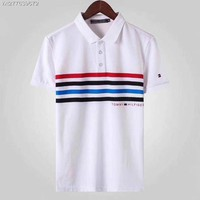 TOMMY 2018 Spring and summer nwe business leisure lapel T-shirt polo shirt ღ011