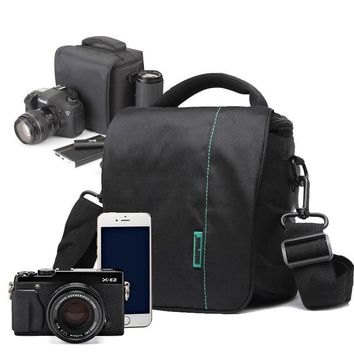 Men women DSLR Camera bag Crossbody bags Shoulder bags for nikon canon camera photo Free Shipping