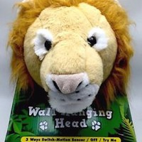 Lion Head Hanging Wall Decoration Plush Light and Sound Animations Co.