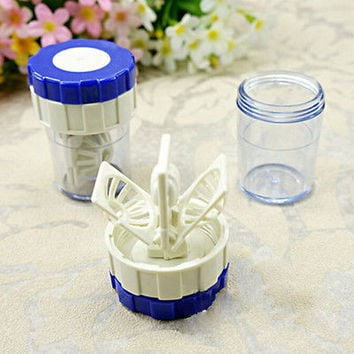 New Hot Manually Contact Lens Cleaner Washer Cleaning Lenses Case