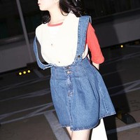 YESSTYLE: Banana button- Denim Jumper Dress (Blue - One Size) - Free International Shipping on orders over $150