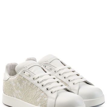 Leather Sneakers with Lace - Dolce & Gabbana | WOMEN | KR STYLEBOP.COM