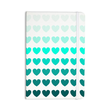 "NL Designs ""Teal Hearts"" Blue love Everything Notebook"
