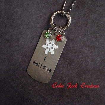 I Believe In The Spirit Of Christmas Necklace