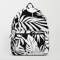 Urban Jungle Black Backpacks by Heather Dutton