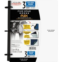 Five Star Flex® Notebook, 3-Subject, College Ruled, Assorted, 8-1/2