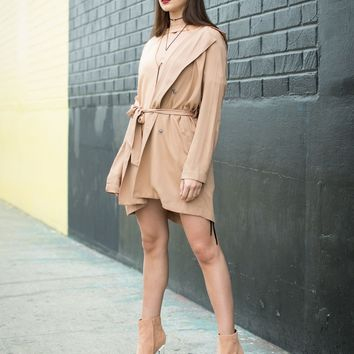 Buttoned Trench Jacket