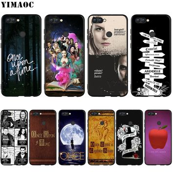 YIMAOC Once Upon A Time Silicone Case for Huawei Mate 10 P8 P9 P10 P20 Lite Pro P Smart Mini 2017