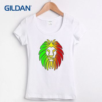 Reggae Rock Bob Marley Lion 2017 Womens T-Shirt Hop T Shirt 100% Cotton Tee Shirt Transfers Camisa