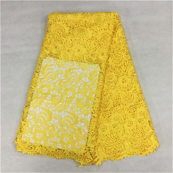 High Quality African guipure lace fabric,beautiful nigerian cord lace