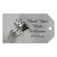 Wedding Rings Favor Tags