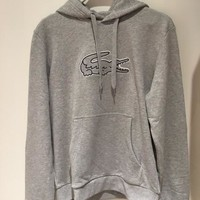 """Lacoste"" Fashion Hooded Top Pullover Sweater Sweatshirt Hoodie"